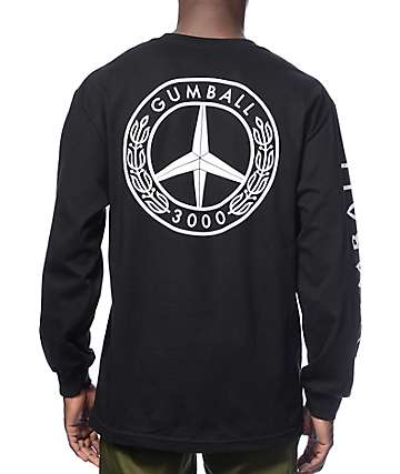Gumball 3000 Peace Black Long Sleeve T-Shirt