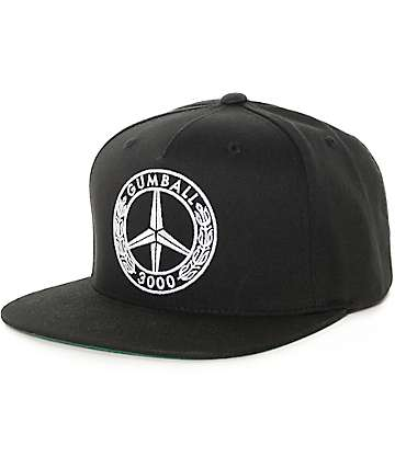 Gumball 3000 Peace Black Snapback Hat