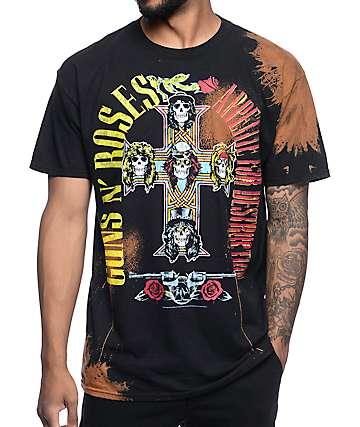 Guns N' Roses Appetite Bleached Black T-Shirt