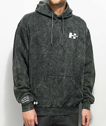 H33M Logo Mineral Wash Hoodie