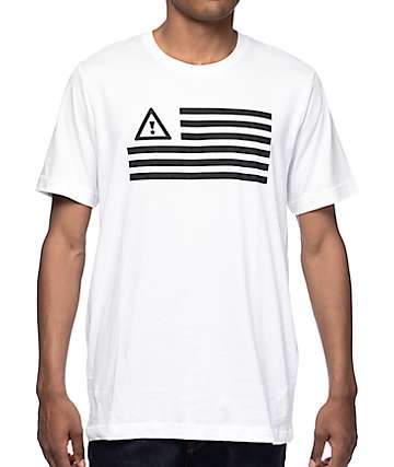 HDY Nation Flosstradamus Flag White T-Shirt