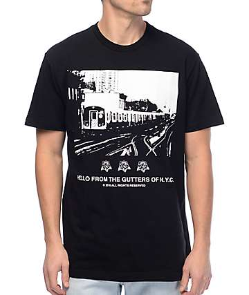HSTRY The Gutters Black T-Shirt