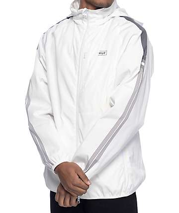 HUF 10K  White Track Jacket