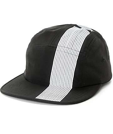 HUF 10K Black Stripe Strapback Volleyball Hat