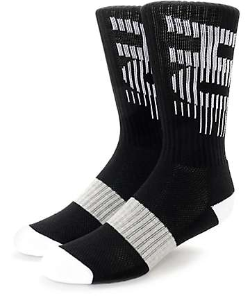 HUF 10K Performance Black Crew Socks