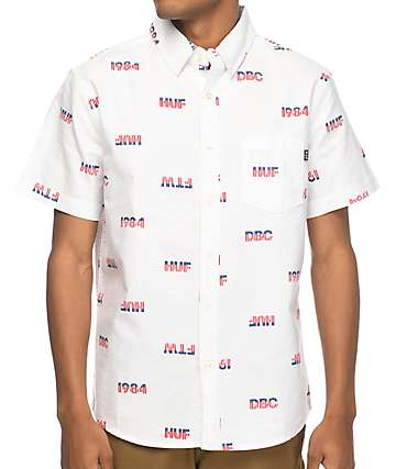 HUF 1984 Chambray White Short Sleeve Woven Shirt