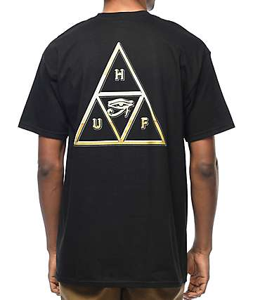HUF 24K Triple Triangle Black T-Shirt