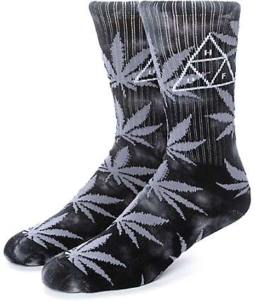 HUF 420 Triple Triangle Black Smoke Crew Socks