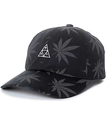 HUF 420 Triple Triangle Black Strapback Hat
