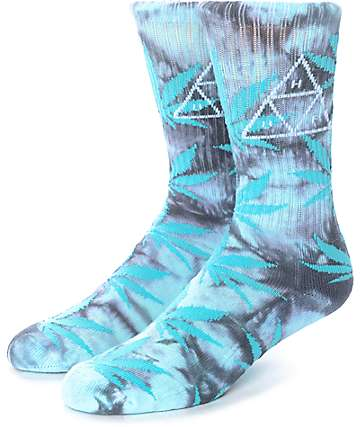 HUF 420 Triple Triangle Mint Smoke Crew Socks