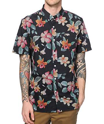 HUF Aloha Aina Floral Button Up Shirt