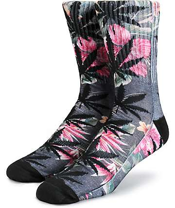 HUF Aloha Aina Plantlife Crew Socks