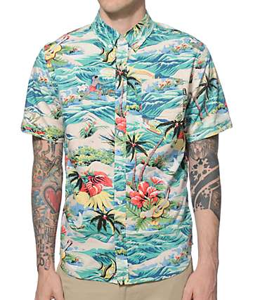 HUF Aloha Button Up Shirt