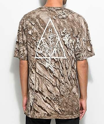 HUF Ambush Rose camiseta en marrón con efecto tie dye