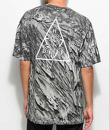 HUF Ambush Rose camiseta negra con efecto tie dye