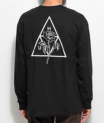 HUF Ambush Triple Triangle Black Long Sleeve T-Shirt
