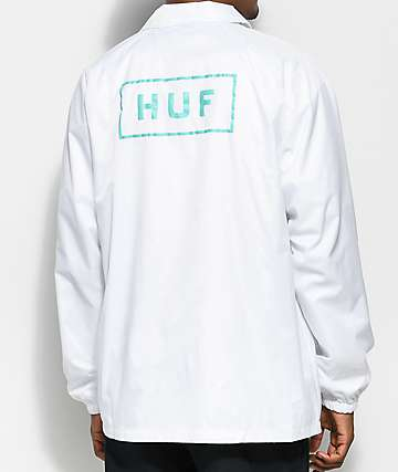 HUF Bar Logo White Coaches Jacket