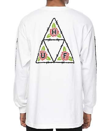 HUF Barb White Long Sleeve T-Shirt