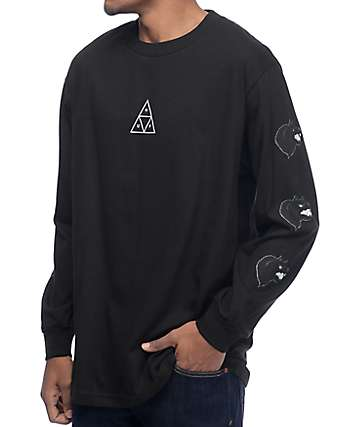HUF Black Wolf Black Long Sleeve T-Shirt