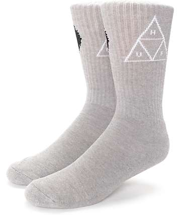 HUF Black Wolf Grey Crew Socks