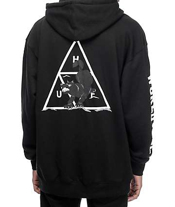 HUF Black Wolf Souvenir Black Pullover Hoodie
