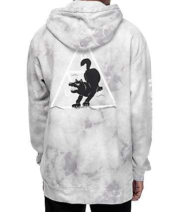 HUF Black Wolf Souvenir Grey Wash Hoodie