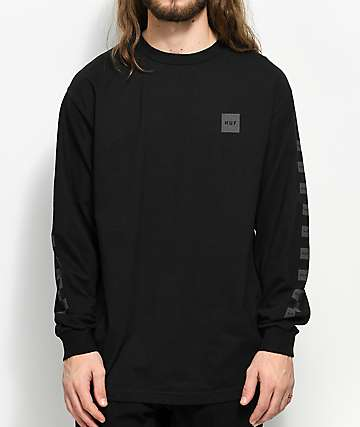 HUF Blackout Black Long Sleeve T-Shirt
