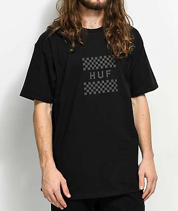 HUF Blackout Check Box Black T-Shirt