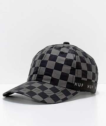 HUF Blackout Checkered Strapback Hat