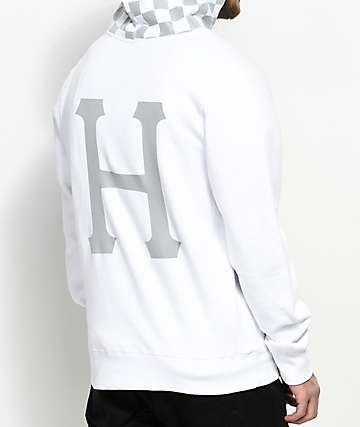 HUF Blackout White Hoodie