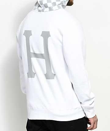 HUF Blackout sudadera blanca con capucha