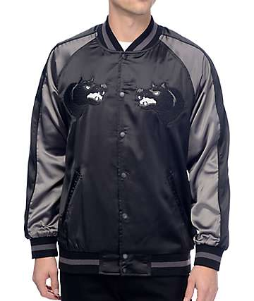 HUF Blackwolf Black Souvenir Jacket