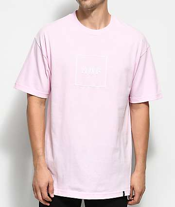 HUF Box Logo Pink T-Shirt
