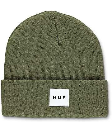 HUF Box Logo gorro en verde olivo