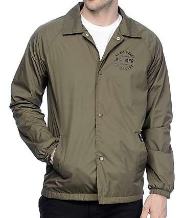 HUF Bundy chaqueta entrenador en verde olivo