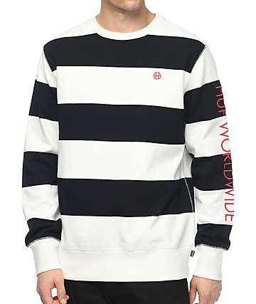 HUF Catalina Stripe Crew Neck Sweatshirt