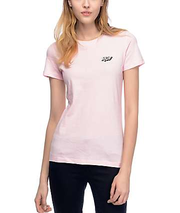 HUF Charms Embroidery Pink T-Shirt