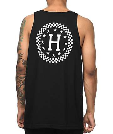 HUF Checkered Black Tank Top