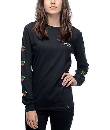 HUF Cherry Bomb Black Long Sleeve T-Shirt