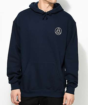 HUF Circle Triple Triangle Navy Hoodie