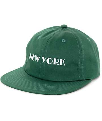 HUF Cities Dark Green Strapback Hat
