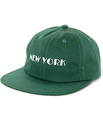 HUF Cities Dark Green Strapback Hat