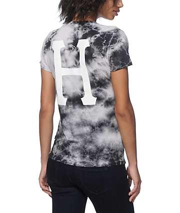HUF Classic H Black Crystal Wash T-Shirt
