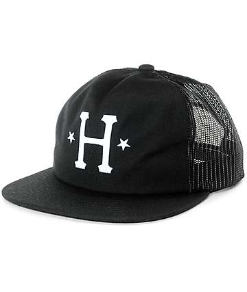 HUF Classic H Black Trucker Hat