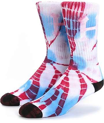 HUF Classic H Tie Dye Swirl Crew Socks