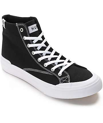 HUF Classic Hi Ess TX Black & White Skate Shoes