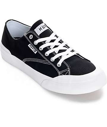 HUF Classic Lo Black & White Canvas Skate Shoe