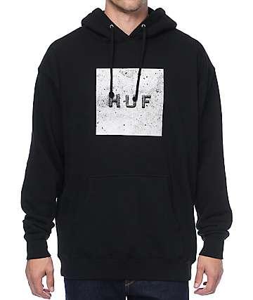HUF Concrete Box Logo Black Hoodie