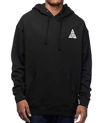 HUF Concrete Triple Triangle Black Hoodie