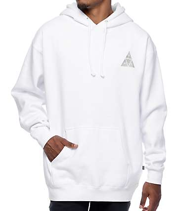 HUF Concrete Triple Triangle White Hoodie